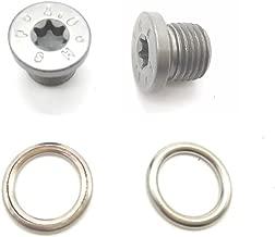 Oil Drain Plug Fit for AUDI VW TIGUAN PASSAT Audi Q3 A3 S3 BMW 89V3 E28 E30 E34. Quattro N91167901 (2 Pack)