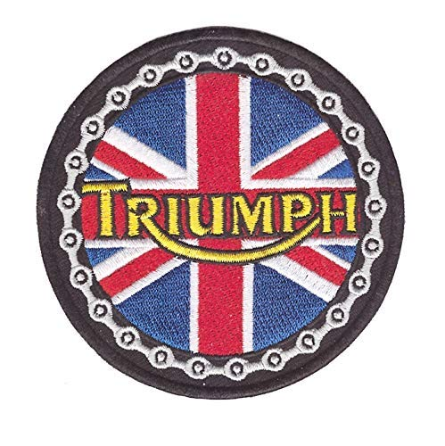 Choppershop Parches de Tela Bordada Triumph British Motorcycle Biker para Planchar