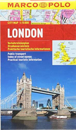 Preisvergleich Produktbild MARCO POLO Cityplan London 1:15 000: Stadsplattegrond 1:15 000 (MARCO POLO Citypläne)