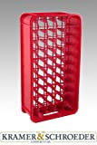 Kunststoff Gläserkasten rot 50-fach neutral