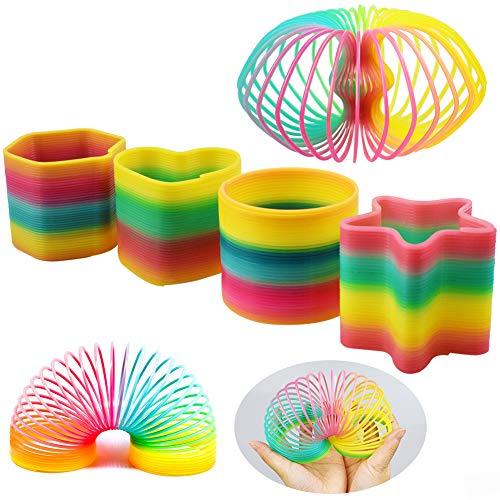 INTVN Resorte Arco Iris Mágico Springs Toy Colorido Juguetes Infantiles 4 Piezas