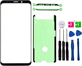 Original Replacement Repair Front Outer Top Glass Lens Cover Screen for Samsung Galaxy S8 Plus SM-G955 Mobile Phone Curved Surface Parts and Adhesive Tools (No LCD and Touch Digitizer) (Black)