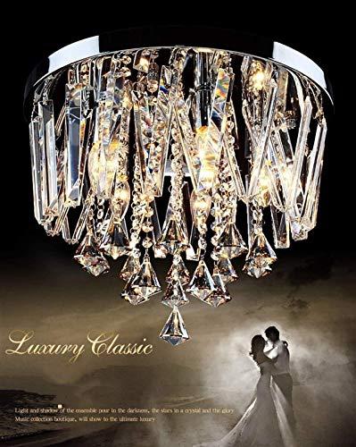 BaiHogi Lámparas de araña, Lámparas Colgantes Lámpara de Cristal Moderna, Claro K9 Lámpara de Cristal de Cristal Sala de Estar Sala de Estar Iluminación de Techo, lámpara de 35 cm Color: 45 cm