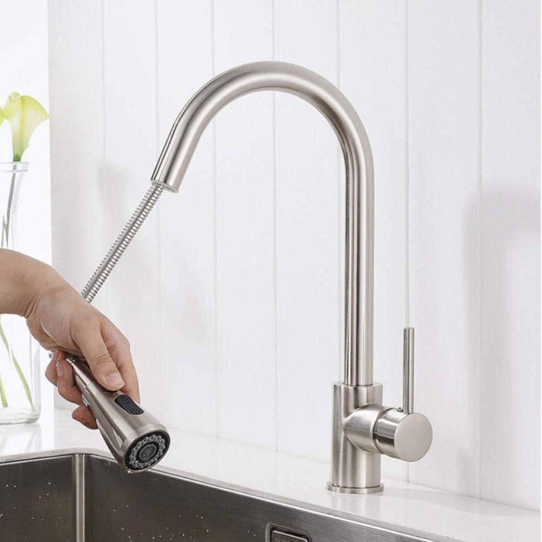 Gorheh Einhand-Küchenarmatur Ausziehbare Küchenarmatur Einloch-Wasserhahn Kalt- Und Warmwassermischer