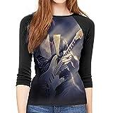 Ritchie Blackmore Women Baseball T Shirts 3/4 Sleeve Raglan Jerseys Crew Neck Printed Blouse Softball Tee Tops...