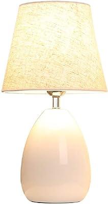 Lámpara de Mesa | Lámpara de Mesa de cerámica Simple Lámpara de cabecera Lámpara de Mesa de decoración - Ideal para Dormitorio y decoración del hogar - Luz cálida: Amazon.es: Hogar