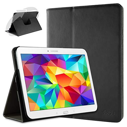 doupi Deluxe Schutzhülle für Samsung Galaxy Note Pro (12,2 Zoll), 360 Grad drehbar Tablet Etui Schutz Hülle Ständer Cover Tasche, schwarz