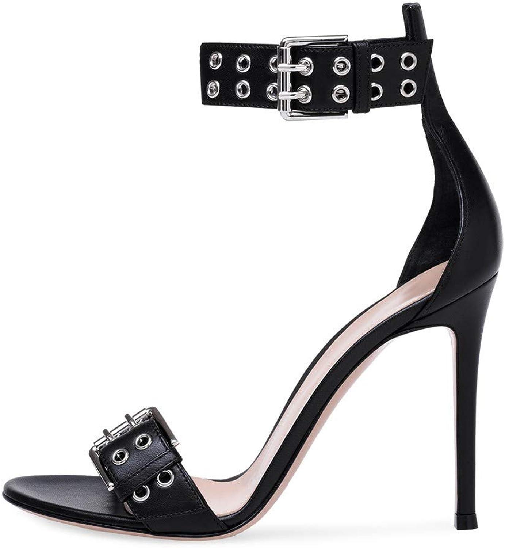 Sandalen Künstliche Pu-Mode Der Europäischen Europäischen Europäischen Und Amerikanischen Frauen Reizvoller Nachtklubschnalle Hochhackige Sandalen  d81011
