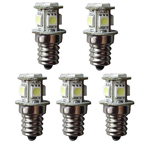 GutReise E12 8LED Screw Bulbs Lamps Lights,5 pcs DC E12 18V Warm White Boat Miniature Microscope Instrument Lamps Light (Warm White, 18V)