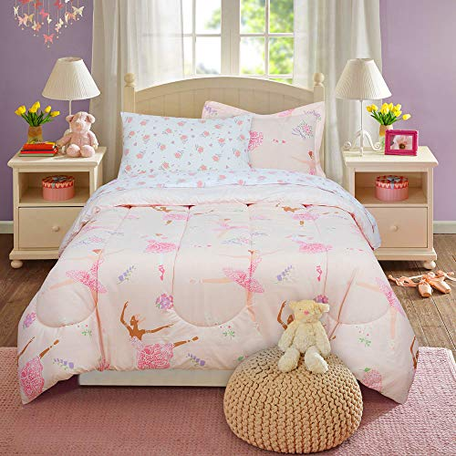 Kidz Mix Dancing Ballerina Bed in a Bag, Twin, Pink
