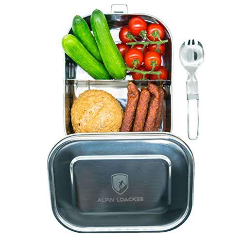 Alpin Loacker Premium Edelstahl Bento Box, Lunchbox Auslaufsicher mit Göfel (1400ml)