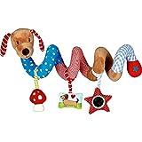 Coppenrath die Spielburg Spielspirale Hündchen BabyGlück - Hunde-Mobile mit bunten Anhängern - Activity-Spirale im Tier-Design mit Hundekopf