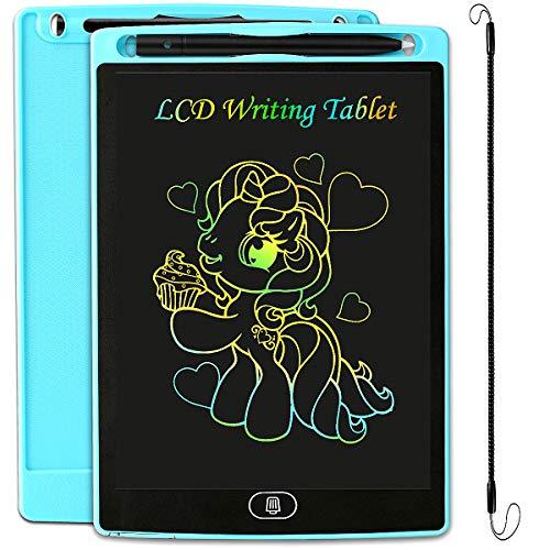 JOEAIS Tableta Escritura LCD Color Anti-caída Tablet Dibujo, Tablet para Dibujar para Niños, Regalo para Niños Niñas (8,5 Pulgadas, Azul Claro)