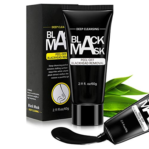 DEVIMIC Blackhead Remover Mask, Peel Off Blackhead Mask with Natural Bamboo Charcoal, Black Mask for Face and Nose, Deep Cleansing Facial Pores (60g)