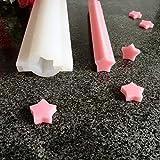 N/ A Herz runder Stern Verschiedene Formen Silikonrohr Seifenform Mondblumenrohrformen für Candle...