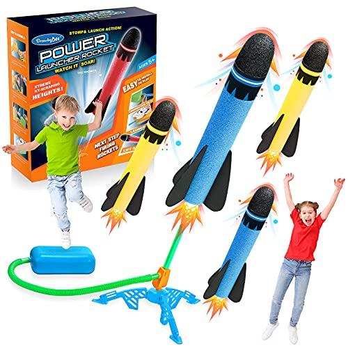 DEVRNEZL Regalos Niña 3-12 Años, Cohete Juguetes para Niños de 2-10 Años Juegos Exterior Niños Jardin Regalo Niños 3-12 Años Regalos para Niños Juegos Educativos Niños 2-5 Años Azul