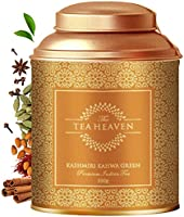 The Tea Heaven- Kashmiri Kahwa| 100 Grams | Tea Gift Pack-Blended with Saffron, Almonds, Spices -100 % Natural Ingredients