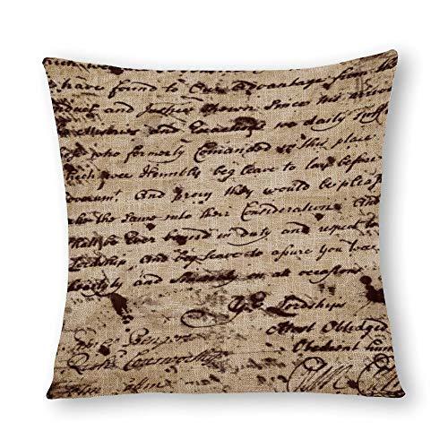 perfecone Home Improvement - Funda de almohada de algodón para sofá y coche, 1 paquete de 55 x 55 cm