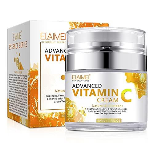 Vitamin C Intense Night Cream , Daily Anti Aging Moisturizer Cream for Face , Reduce Appearance of Wrinkles, Fine Lines & dark circles , 1.7FL.OZ
