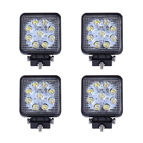 SAILUN 4X27W Faros de trabajo, Faros LED Offroad IP67 Impermeable,Foco Lampara de Coche 12V/24V (4 * 27W,Square)