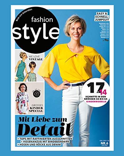 fashion style Nähmagazin: Ausgabe 06/2020, Schnittmuster ideal geeignet für Anfänger und Näherfahrene