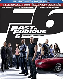 Fast & Furious 6 (Limited Edition SteelBook) (Blu-ray + DVD + Digital Copy + UltraViolet) (Bilingual) (B00A7ZHK8I) | Amazon price tracker / tracking, Amazon price history charts, Amazon price watches, Amazon price drop alerts