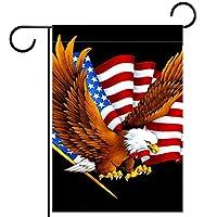 庭の装飾の屋外の印の庭の旗の飾り愛国的なイーグルアメリカの旗記念日 テラスの鉢植えのデッキのため