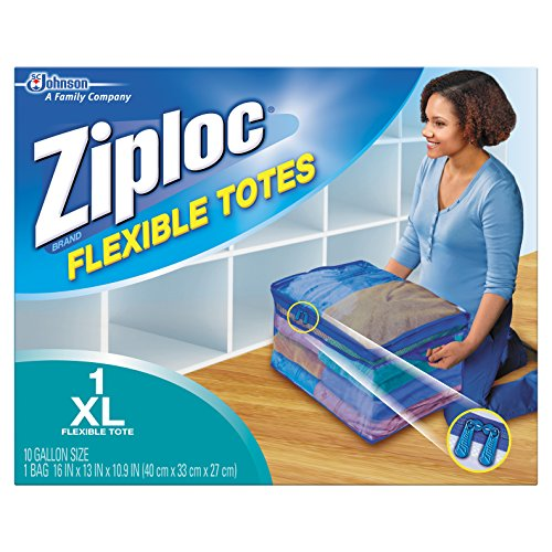 Ziploc Storage Bags for Clothes, Flexible Totes for Easy and Convenient Storage, 1 XL Bag , Pack of 1