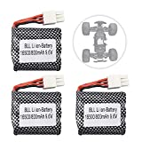 3PCS 9.6V 800mAh Battery for S911 S912 9115 9116 9120 High Speed Off-Road RC Car Foxx Struck Parts