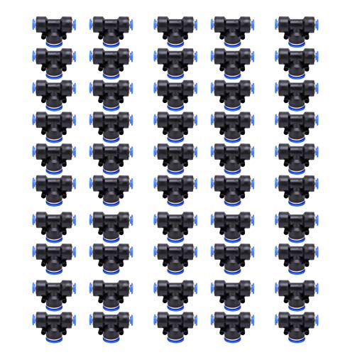 Conector neumático, PEG8-12-8 Conector rápido Conector rápido Tipo T 50 piezas para reemplazo del anterior