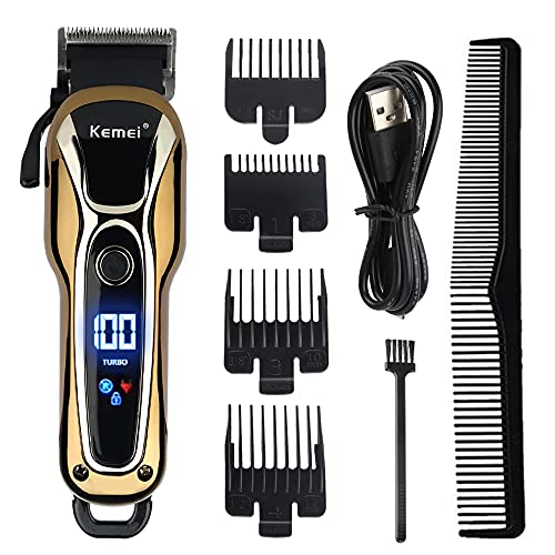 KEMEI Hair Clippers for Men Trimmer for Men Professional Hair Trimmer Beard Trimmer Barber Hair Cut Grooming Kit Machine Cordless Quiet.KM-1990