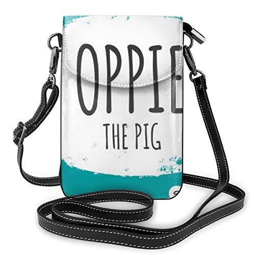 Lawenp Cute Pink Pig Crossbody Phone Purse Small Mini Shoulder Bag Cell Phone Pouch Leather Wallet For Women Girls