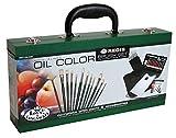 Royal & Langnickel RSET-OIL2000 Boîte en bois de pinceaux + peinture à l'huile