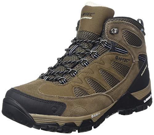 HI-TEC Riverstone Ultra Waterproof, Chaussures de Randonnée Hautes Homme, Marron (Smokey Brown/Olive/Snow 41), 46 EU