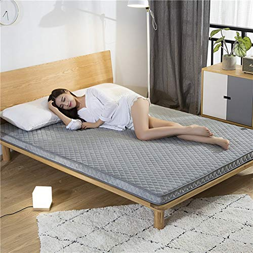 ZH 3d Bamboo Charcoal Breathable Thick Anti-slip Floor Mattress Pad Bed Topper Trampoline Tatami Mat Sleeping Nap Cushion Dormitory (Color : L, Size : 150x200cm(59x79inch))