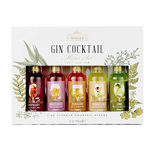 Modern Gourmet Foods - Cocktail Mix Geschenkset Für Gin - Set Mit 5 Cocktail-Mixturen - 5 Verschiedene Geschmackssorten