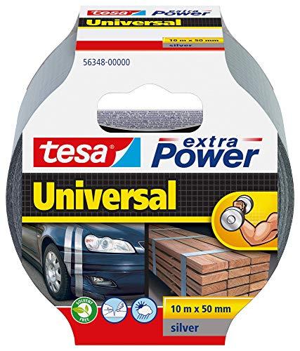 tesa extra Power Universal Gewebeband - Gewebeverstärktes Ductape zum Reparieren, Befestigen, Bündeln, Verstärken oder Abdichten - Grau - 10 m x 50 mm