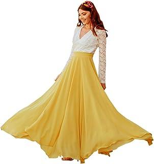 Chicwish Women's Timeless Favorite Chiffon Maxi Prom Party Skirt