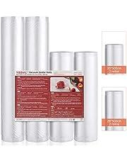 YISSVIC Rollos de Envasado al Vacío 4 Rollos 20x 500cm 28x 500cm Bolsas de Vacío para Conservación de Alimentos para Varias Envasadora al Vacío