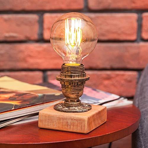YLCJ tafellamp, industrieel en zwart, tafellamp, stijl zwart, tafel: 25 cm (grootte: drukknop)