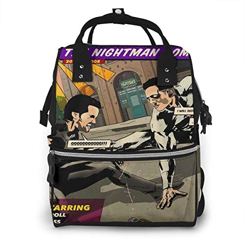 JUKIL Sac à dos à couches Mossnike Dayman Comic Fashion Diaper Bags Mummy Backpack Multi Functions Large Capacity Nappy Bag Nursing Bag for Baby Care for Traveling