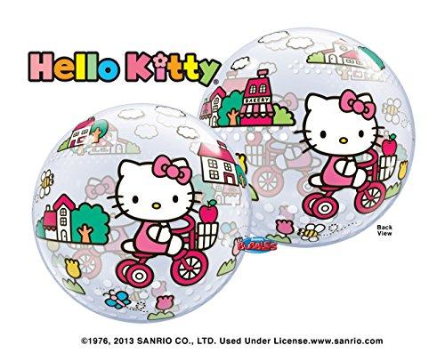 Hello Kitty globo de equitación bicicleta burbuja 22'Mylar foil balloon