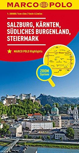 MARCO POLO Regionalkarte Österreich Blatt 2 1:200 000: Salzburg, Kärnten, Steiermark, südliches Burgenland (MARCO POLO Karten 1:200.000)