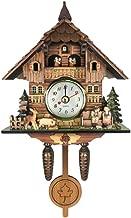 B Blesiya Madera Reloj de Pared del Diseño Cuco, También es un Adorno Decorativo Doméstico - # 10