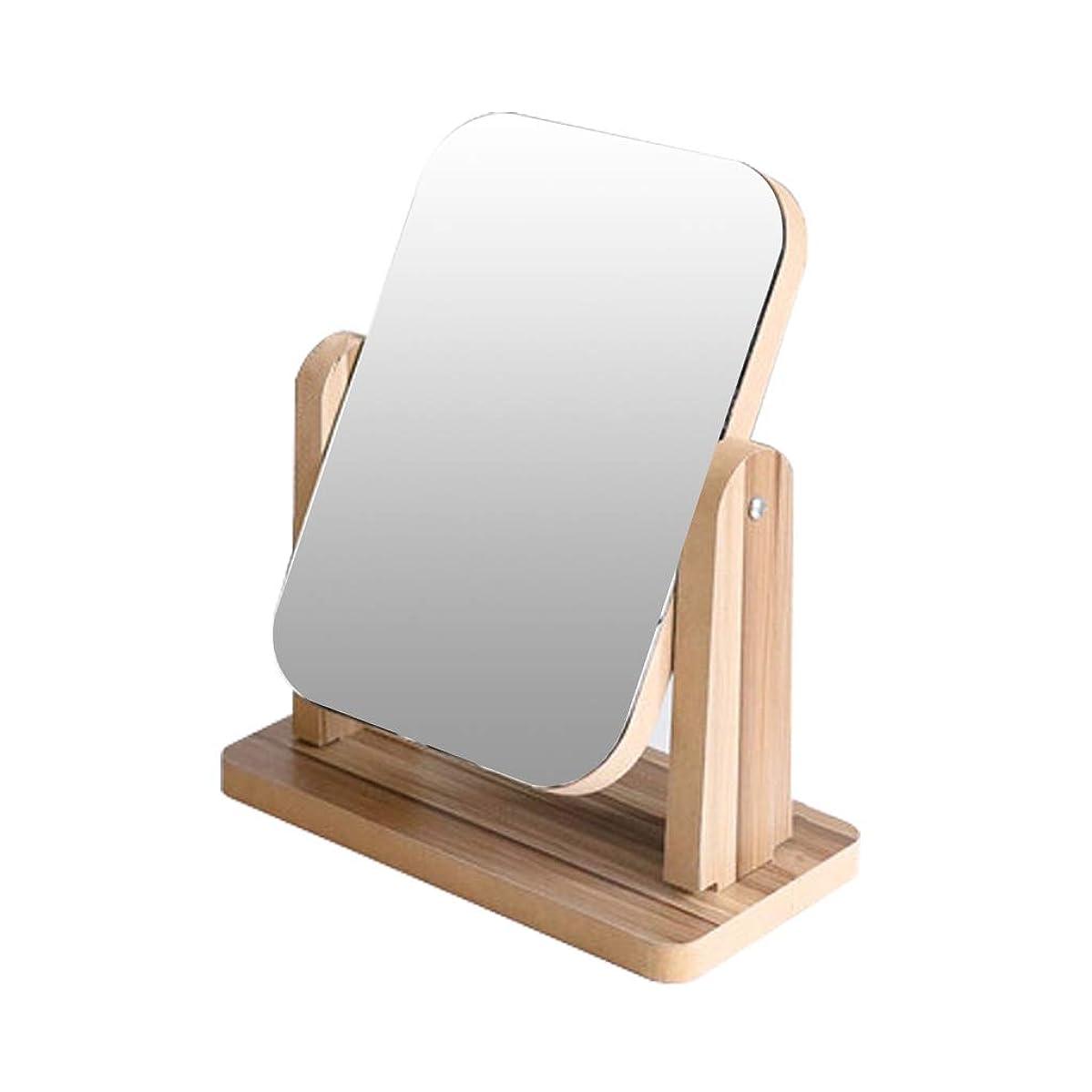 円形エキスレーダー木製の化粧鏡の洗面化粧台のデスクトップのデスクトップのポータブルデスクトップの折りたたみノルディックシンプルな木製の茶色のパターン