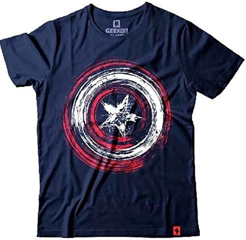 Camiseta Vingadores Capitão América Masculina Azul (PP)
