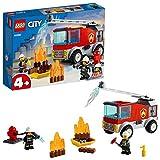LEGO 60280 City Camión de Bomberos con Escalera Juguete de Construcción con Figuras de Bomberos para Niños y Niñas a Partir de 4 Años