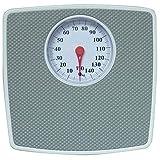 TronicXL Bilancia pesapersone analogica – fino a 150 kg – Retro Design Vintage – Bilancia meccanica senza batterie – Antiscivolo – Accessori per il bagno