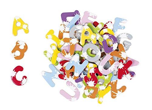 Janod J09612 - Sortiment 52 Magnetbuchstaben Splash