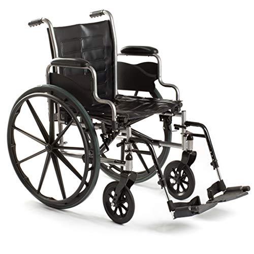 Silla de ruedas portátil multifunción, carro ensanchado con brazos de longitud de escritorio y lev